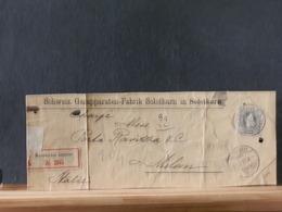 A8968 FRAGMENT DE LETTRE  1897 POUR MILAN - 1882-1906 Armoiries, Helvetia Debout & UPU
