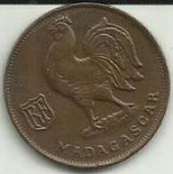 1 Franco 1943 Madagascar - Madagaskar