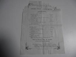 Association Musicale De L'Ouest, Limoges,  1862, Concert Vocal Et Instrumental - Programmes