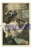 Bonne Année. Petit Ange Et Flûte à Bec. Signée Manuel. 1908. Photographie - Anges