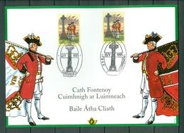 Belgium/Ireland 1995 - Memorial Card - The Battle Of Fontenoy  (2 Scans) - FDC