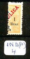 """IND (P) YT 232 MUN 238 """"A"""" De REAL Plus Grand En XX - Inde Portugaise"""