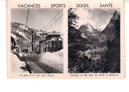CPSM - Samoëns Vu Des Saix - La Gare Et Le Train Pour Skieurs  - Vacances -Sports - Soleil - Santé. - Samoëns