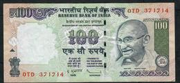 INDIA INDE P98h1 100 RUPEES 2011 #0TD Sign.20 VF N0 P.h. - India