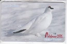 AND-149/a TARJETA DE ANDORRA DE LA PERDIU BLANCA (PERDIZ-BIRD-PAJARO) TELEBARNA 2005 - Andorra