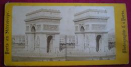 PHOTO STÉRÉOSCOPIQUE - Paris,arc De Triomphe,place De L'étoile. - Photos Stéréoscopiques