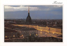 """3749"""" TORINO-PANORAMA NOTTURNO """"  CART. POST. OR. NON SPED. - Churches"""
