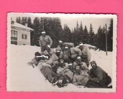 Paneveggio Guardia Alla Frontiera 1937 Foto Di Gruppo Sulla Neve Predazzo Trento - Guerre, Militaire