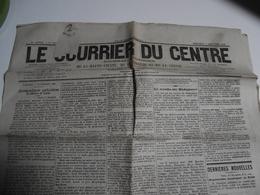 LE COURRIER Du Centre, Quotidien, Hte Vienne Corrèze Creuse,1886 - Journaux - Quotidiens