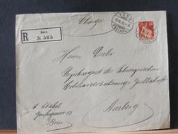 A8979  LETTRE RECOMM  SUISSE BERN  1909 - Switzerland