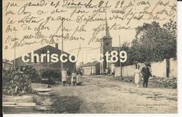 Carte Postale :  Xionville - Route De Sponville ( Animation ) - Altri Comuni
