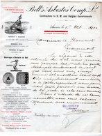 1 Factuur Antwerpen Bell's Asbestos Comp.Ld Contractors To M.and Belgian Governments   C1901 Kattendijkdok - Belgium