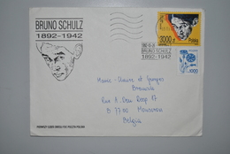 Pologne 1992 Enveloppe-souvenir Bruno Schulz - 1944-.... République