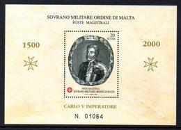 Ordre De Malte SMOM 0622 Bloc Empereur Charles  V  ( Quint ) - Histoire