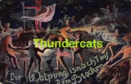 CPA SURREALISME SORCIERE WITCH DIE WALPURG IS NACH TAUF DEM BROCKER DIABLE DEVIL - Contes, Fables & Légendes