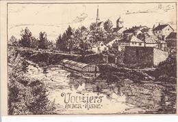 (08) - VOUZIERS An Der Aisne Zeichnung Carte Dessinée   Carte  Allemande 1° Guerre - Vouziers
