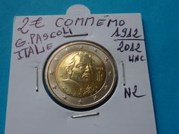 2 €  COMMEMO  ITALIE  G. PASCOLI  1912 - 2012 Unc ( 2 Photos ) - Italie