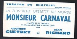 Paris : THEATRE DU CHATELET : Bon De Réduction MONSIEUR CARNAVAL Av G Guétary 1966 (PPP18274) - Programs