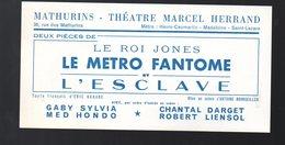 Paris : THEATRE Des MATHURINS : Bon De Réduction LE METRO FANTOME 1966 (PPP18281) - Programmes