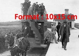 Reproduction D'une Photographie Ancienne Du Train à Cheval Fintona - Reproductions