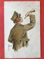 1919 - Illustrateur BUSSCHE - FEMME AVEC TROMPETTE - DAME MET EEN TROMPET - MILITAIR - SOLDAT - Autres Illustrateurs