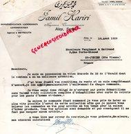 87- SAINT JUNIEN- GANTERIE VERGNIAUD RATINAUD MANUFACTURE GANTS DE PEAU-LIBAN BEYROUTH-JAMIL HARIRI 1929 - Other