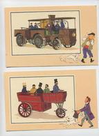 Lot De 6 Images Environ 195x130 VOIR & SAVOIR Par HERGE: AUTOMOBILE Album1 Origine à 1900 Série 5 - N°7,19, 22, 23,28,30 - Livres, BD, Revues