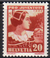 Zu J  71 PRO JUVENTUTE 1934 ** / MNH Voir Description - Neufs