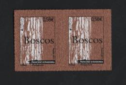 CK2 Andorre ** 2011 En Pair (adhésif) Boscos Europa - Unused Stamps