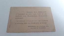 Carte D'invitation à Un Mariage à Lourdes En 1924 - Maps