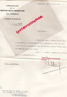 87- SAINT JUNIEN- GANTERIE VERGNIAUD RATINAUD MANUFACTURE GANTS DE PEAU-TURQUIE STAMBOUL-GUIRDJIKIAN-AMBASSADE FRANCE - Factures & Documents Commerciaux