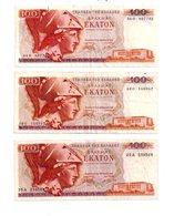 Grèce - 6 Billets De 100 Drachmes ( 1978)-voir état - Grèce