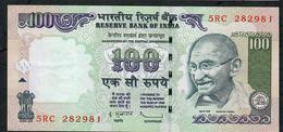 INDIA INDE P98h1 100  RUPEES  2011 #5RC Sign.20 NO LETTER  XF-AU NO P.h. ! ! - India
