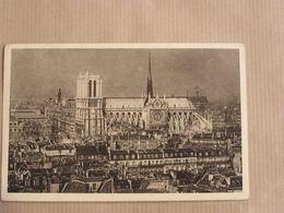 PARIS Cathédrale Notre-Dame De Paris Chef D'Oeuvre D'Architecture CPA Carte Postale France - Notre Dame De Paris