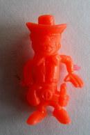 RARE FIGURINE PUBLICITAIRE COMANSI ESPAGNOLE LUCKY LUKE 1980 BILLY THE KID Orange Fluo - Pas Wiko Boomer - Figurines