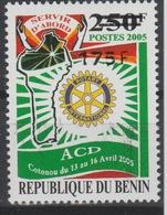 Bénin 2007 Mi. 1404 Rotary Club International Cotonou 2005 Surchargé Overprint MNH** - Bénin – Dahomey (1960-...)