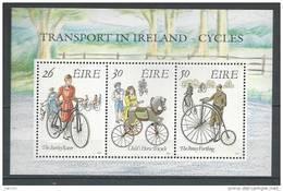 Irlande 1991 Bloc  N°8 Transports: Bicyclettes - Blocs-feuillets