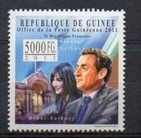 GUINEA. NICOLAS SARKOZY. MNH (5R0219) - Célébrités