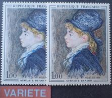 R1949/811 - 1968 - RENOIR - N°1570 TIMBRES NEUFS** - VARIETE ➤➤➤ Visage Blanc Sur Le Timbre De Gauche - Variétés: 1960-69 Neufs