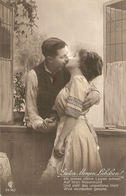 """""""Couple.The Kiss"""" Nice Antique German Postcard - Mujeres"""