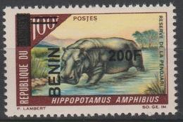 Bénin 2008/2009 Mi. 1499 Hippopotamus Amphibius Faune Fauna Hippotame Nilpferd Surchargé Overprint MNH** - Bénin – Dahomey (1960-...)