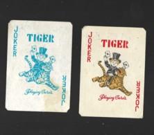 2 PETITS JOCKERS TIGER TIGRE PLAYING CARDS - Cartes à Jouer Classiques