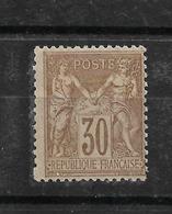 SAGE N 80 ** NEUF Brun Jaune COTE 130 Euros; - 1876-1898 Sage (Type II)