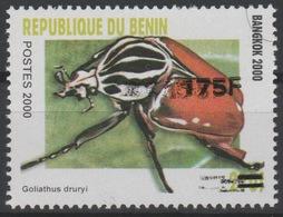 Bénin 2005 Mi. 1394 Goliathus Druryi Insecte Insekt Insect Bangkok 2000 Surchargé Beetle Käfer Overprint MNH** - Bénin – Dahomey (1960-...)