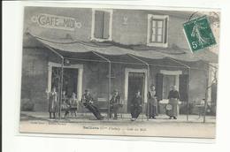 Rare Cpa Salliers, (commune D'Arles) Café Du Midi, Beau Plan  (tous Frais + 1,40 - France