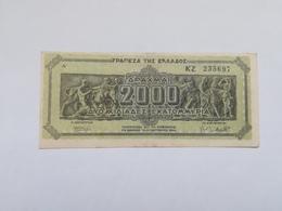 GRECIA 2000 DRACHMAI 1944 - Greece