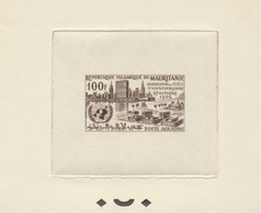 Mauritanie ONU PA22 Epreuve D'artiste, Epreuve De Presentation (tirage 3-5). Mauritania Artist Sepia Proof UNO - Mauritania (1960-...)