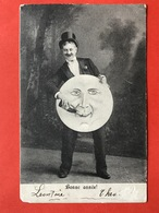 1907 - HOMME DONNE CHAMPAGNE A LA LUNE HUMANISEE - MAN GEEFT DE MAAN CHAMPAGNE - Nouvel An