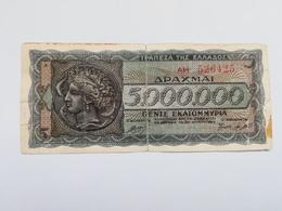 GRECIA 5000000 DRACHMAI 1944 - Grecia