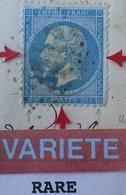 R1917/182 - NAPOLEON III N°22 Sur ✉️ ST CHELY D'APCHER à MARVEJOLS - VARIETE ➤➤➤ Retouche Du Pourtour RARE +++ - 1862 Napoleon III